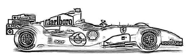 Ferrari Cars, : Ferrari 248 F1 Cars Coloring Pages