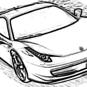 Ferrari Cars Outline Coloring Pages Kids Play Color