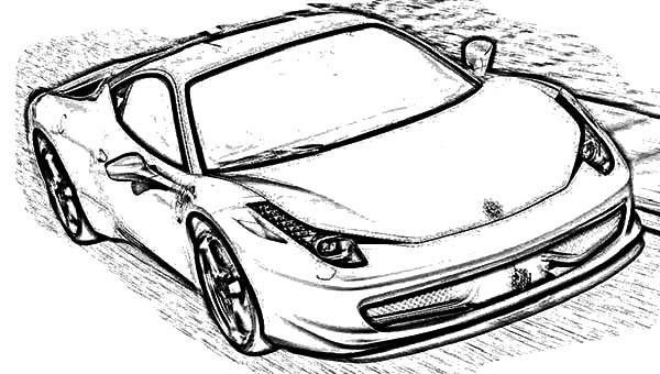 Ferrari Cars, : Ferrari 458 Italia Cars Coloring Pages