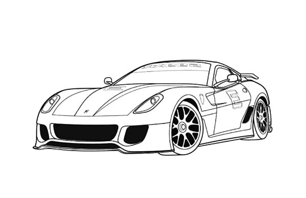 Ferrari 599 Sports Cars Coloring Pages : Kids Play Color