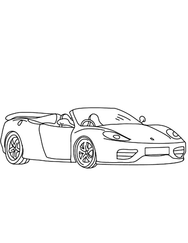 Ferrari Cars, : Ferrari Cars 360 Spider Coloring Pages