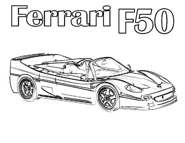 Ferrari Cars, : Ferrari Cars F50 Coloring Pages