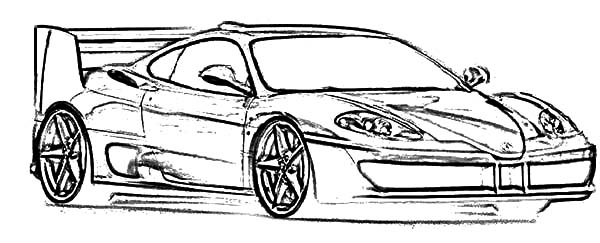 Ferrari Cars, : Ferrari Cars F50 Sketch Coloring Pages
