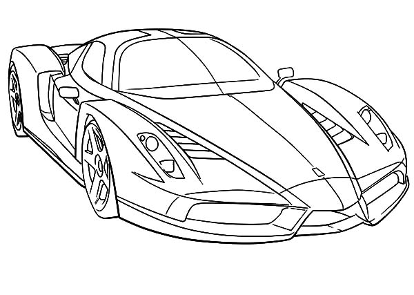 Ferrari Cars, : Ferrari Cars Outline Coloring Pages