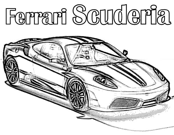 Ferrari Cars, : Ferrari Cars Scuderia Coloring Pages