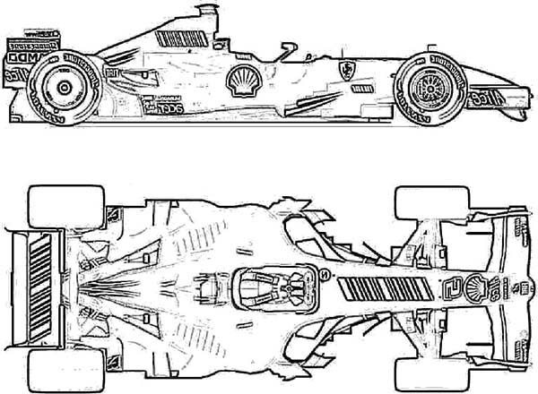Ferrari Cars, : Ferrari F1 2007 Cars Coloring Pages