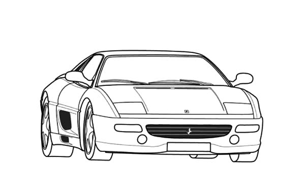 Ferrari Cars, : Ferrari F355 Cars Coloring Pages