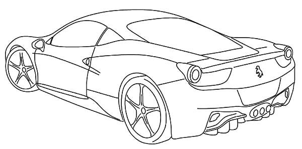 Ferrari Cars, : Ferrari Italia F12 Cars Coloring Pages