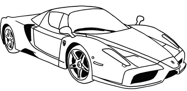 Ferrari Sport Cars Coloring Pages : Kids Play Color
