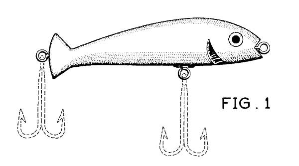 Fishing Lures, : Fishing Lure Place for Hook Coloring Pages