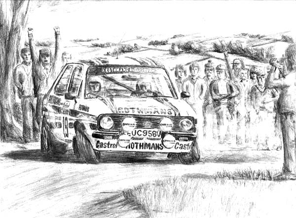 Drifting Cars, : Ford Escort RS1800 Drifting Cars Coloring Pages