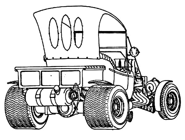 Hot Rod Cars, : Ford Model T Hot Hot Rod Cars Coloring Pages