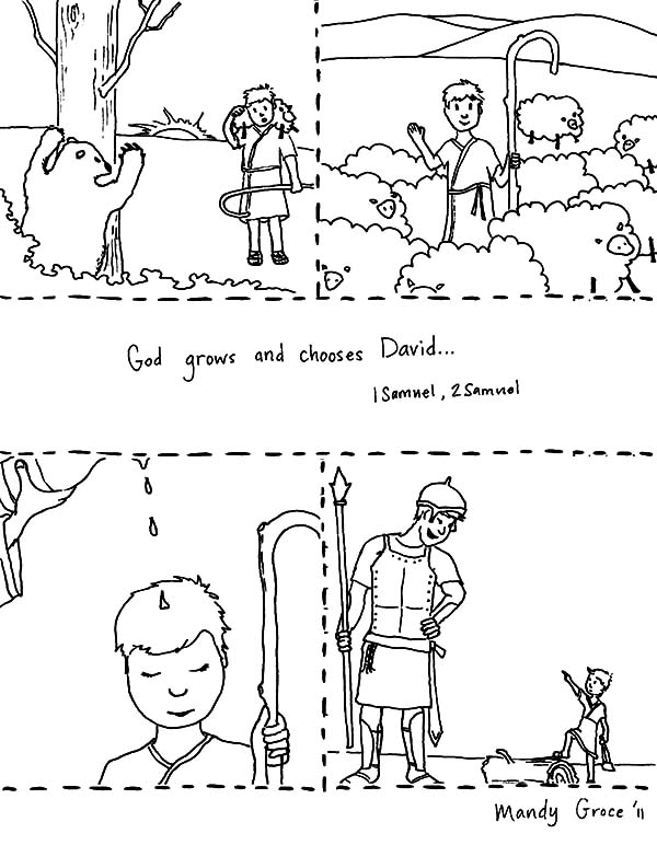 David The Shepherd Boy, : God Choose David the Shepherd Boy to be King Coloring Pages