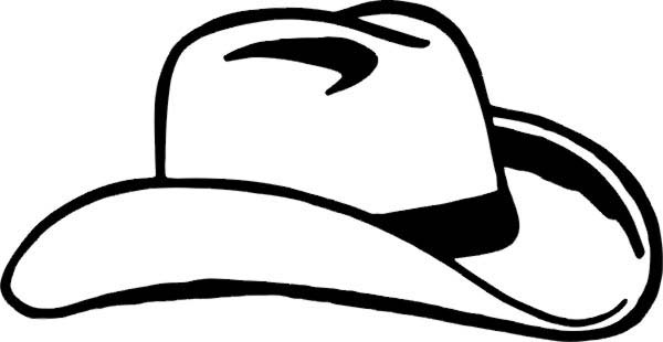 Cowboy Hat, : Going to Party Wear Cowboy Hat Coloring Pages
