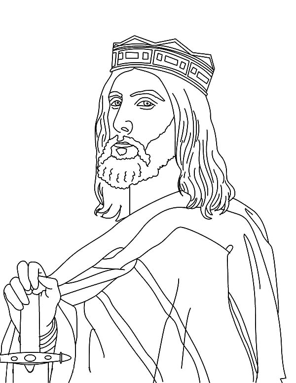 King, : Good King Roi Dagobert Coloring Pages