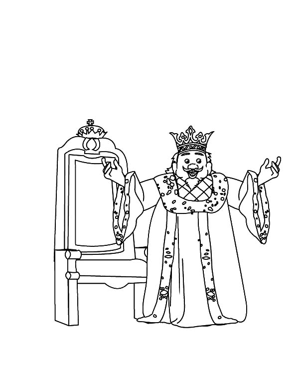 King, : Happy King Coloring Pages