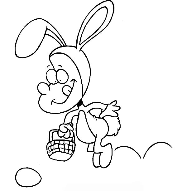Hopping Bunny, : Hopping Bunny Found Easter Egg Coloring Pages