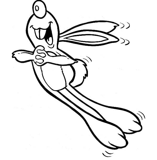 Hopping Bunny, : Hopping Bunny While Singing Coloring Pages