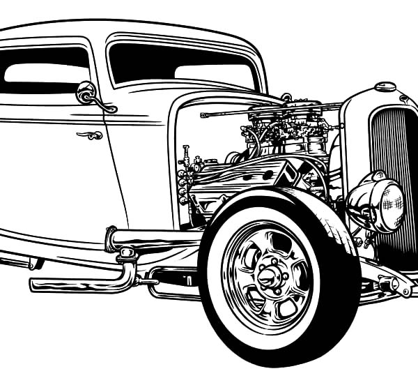Hot Rod Cars, : Hot Rod Cars Coloring Pages