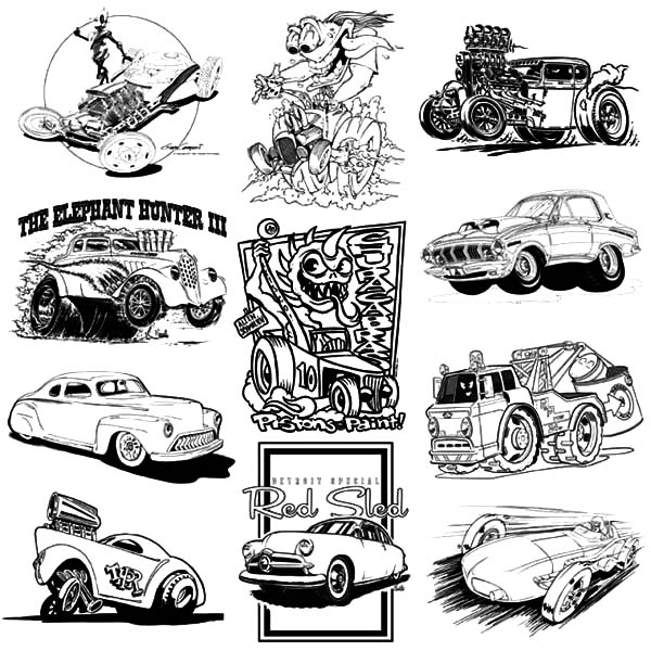 Hot Rod Cars, : Hot Rod Cars Exhibitions Coloring Pages