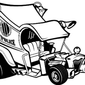 hot police cars coloring pages | Naked Hood Hot Rod Cars Coloring Pages : Kids Play Color