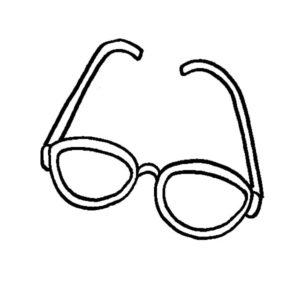 Aesthetic Eyeglasses Coloring Pages