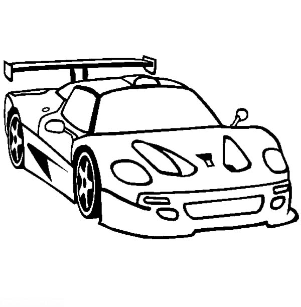 Ferrari Cars, : How to Draw Ferrari F50 Cars Coloring Pages