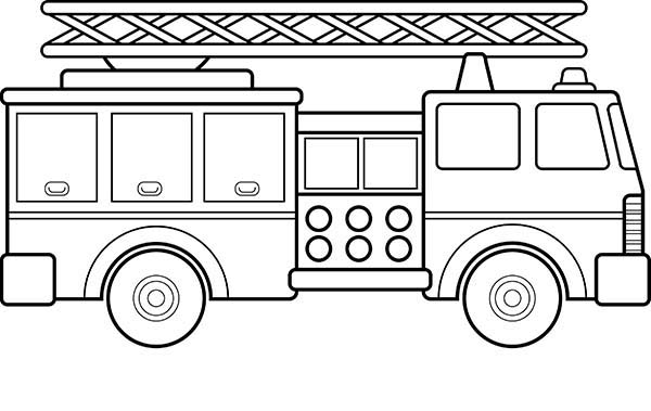 Fire Engine, : How to Draw Fire Engine Coloring Pages