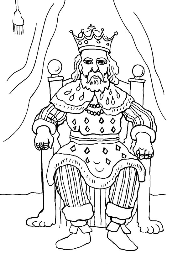 King, : How to Draw King Coloring Pages