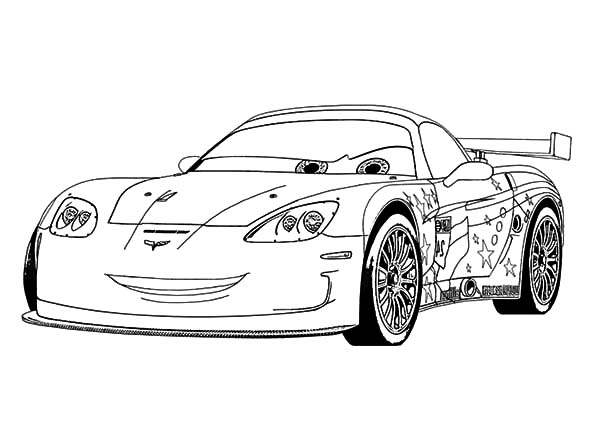 Corvette Cars, : Jeff Corvette Cars Coloring Pages