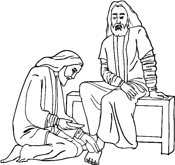 Kindness, : Jesus Kindness Coloring Pages