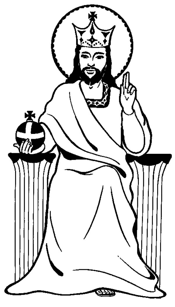 jesus playing sports coloring pages | Jesus Is King Coloring Pages : Kids Play Color