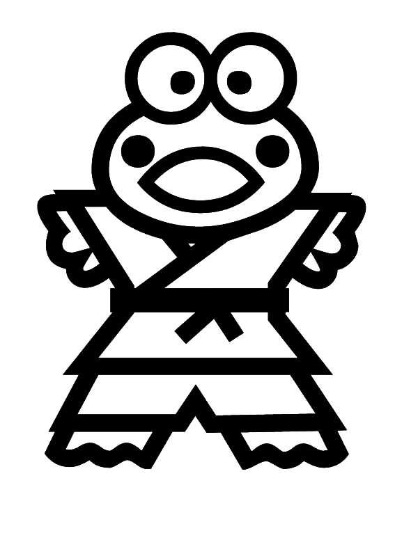 Keroppi, : Karate Hero Keroppi Coloring Pages