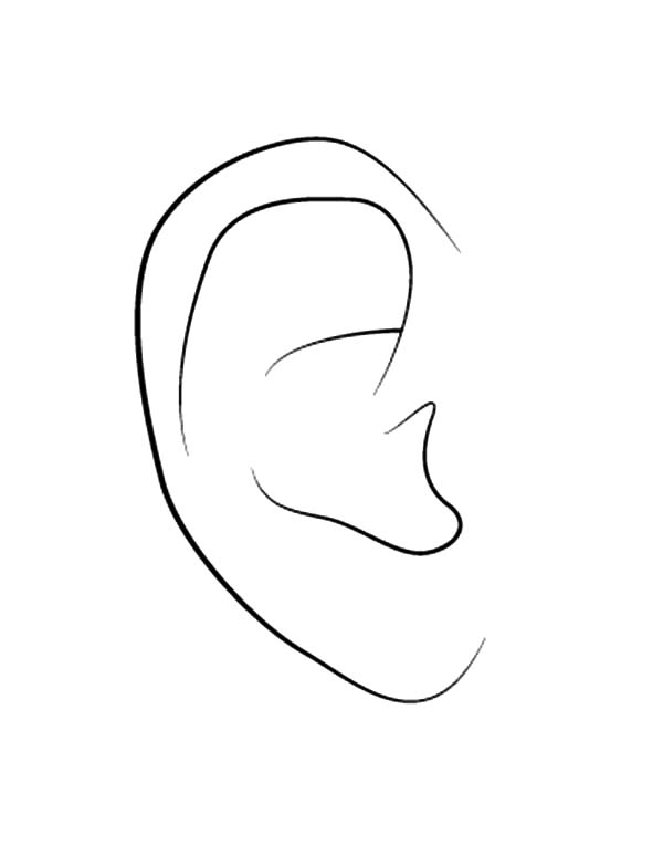 Ear, : Keep Your Ear Clean Coloring Pages