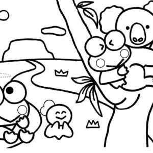 kerokeropi coloring pages | Kero Kero Keroppi In Russia Coloring Pages : Kids Play Color