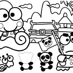 kerokeropi coloring pages | Smiling Keroppi Coloring Pages : Kids Play Color