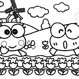 kerokeropi coloring pages | Kero Kero Keroppi No Daibouken Coloring Pages : Kids Play ...