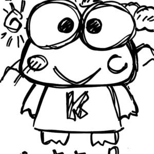 kerokeropi coloring pages | Keroppi Playing Baseball Coloring Pages : Kids Play Color