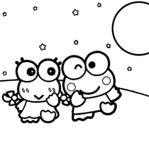 kerokeropi coloring pages | Kero Kero Keroppi In Venice Florence Coloring Pages : Kids ...