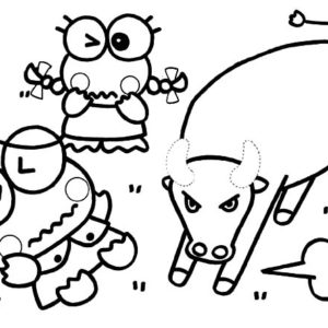 kerokeropi coloring pages | Keroppi Playing Music Coloring Pages : Kids Play Color