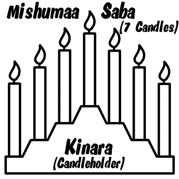 Kinara, : Kinara Candle Holder Coloring Pages