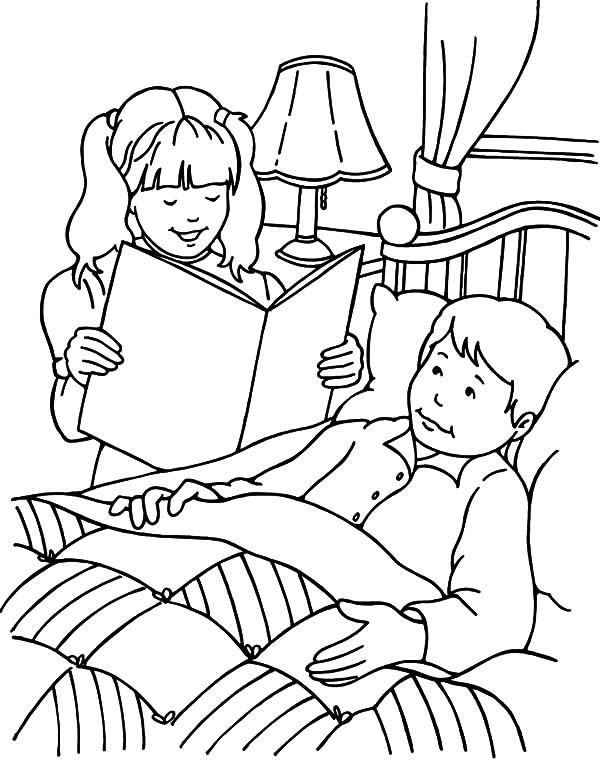 Kindness, : Kindness Visiting the Sick Coloring Pages
