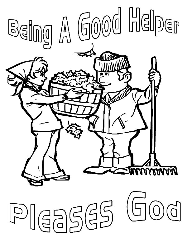 Kindness, : Kindness is Being a Good Helper Coloring Pages