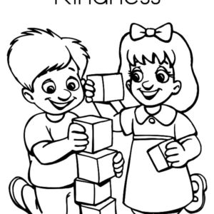 Kindness Is Helping An Injury Girl Coloring Pages : Kids ...