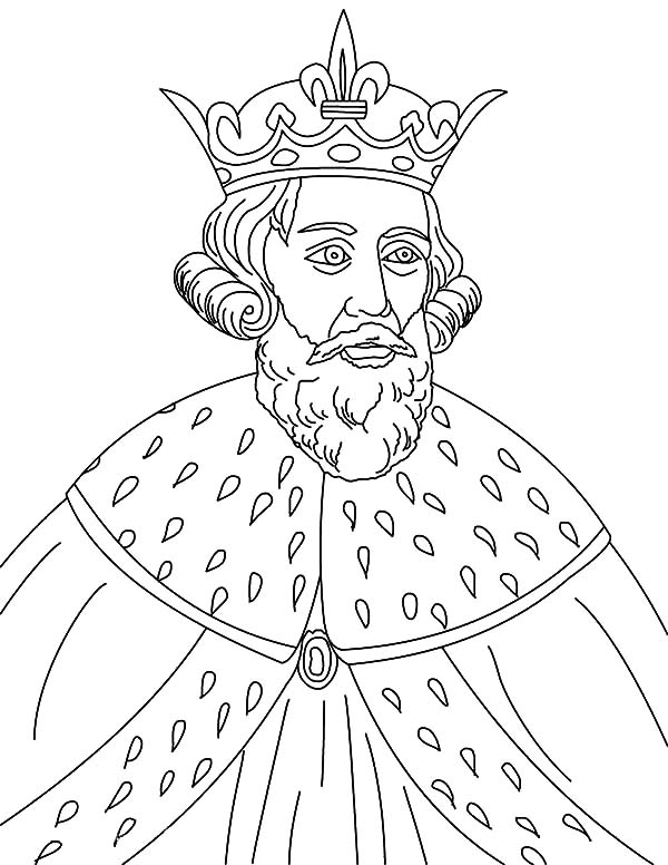King, : King Alfred the Great Coloring Pages