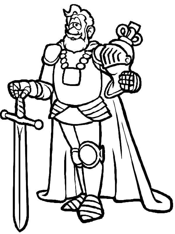 King, : King Armor Coloring Pages