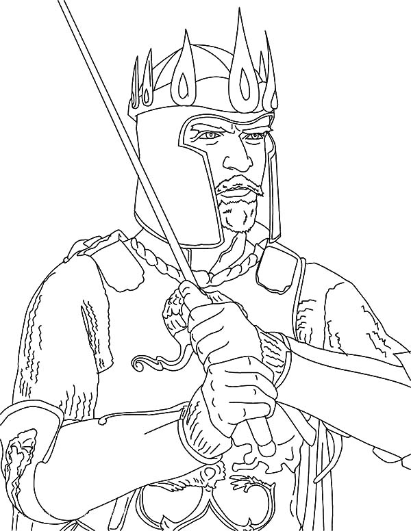 King, : King Arthur Coloring Pages