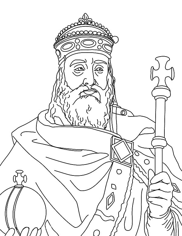 King, : King Charlemagne Coloring Pages