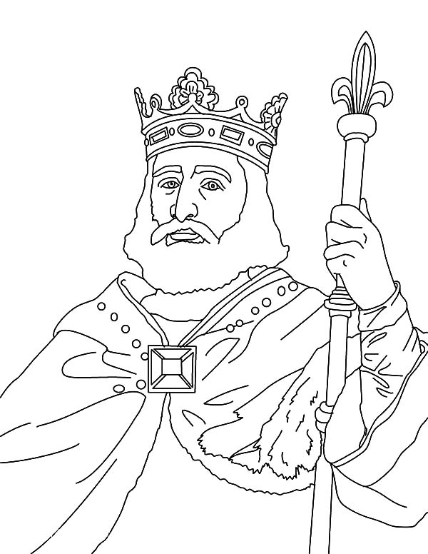 King, : King Charles Martel Coloring Pages