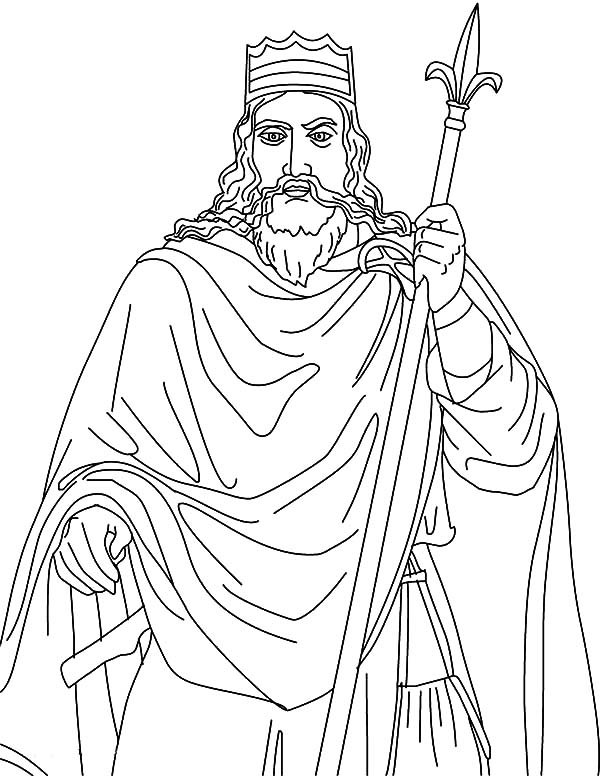 King, : King Clovis Coloring Pages